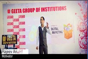 Rajeev Anand the Motivational Speaker taking Digital Marketing Services Workshop at Geeta Group, Samalkha, Panipat, Haryana