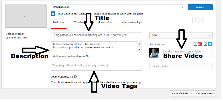 How to insert relevant tags for your videos